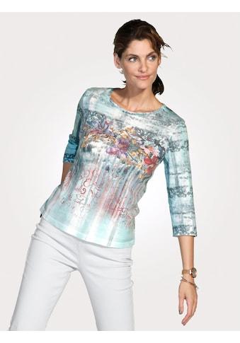 Mona Pullover mit grafischen und floralen Dessin kaufen