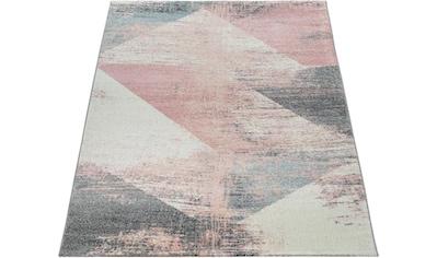 Paco Home Teppich »Mero 102«, rechteckig, 17 mm Höhe, Kurzflor, Pastell-Farben,... kaufen