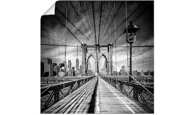 Artland Wandbild »New York City Brooklyn Bridge« kaufen