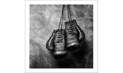 Spiegelprofi GmbH Bild »Boxhandschuhe«, mit Rahmen kaufen