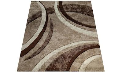 Paco Home Teppich »Brillance 758«, rechteckig, 18 mm Höhe, Kurzflor mit geometrischem Design, Wohnzimmer, Kundenliebling mit 5 Sterne-Bewertung! kaufen