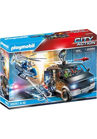 Playmobil® Konstruktions-Spielset »Polizei-Helikopter: Verfolgung des Fluchtfahrzeugs (70575), City Action«, Made in Germany kaufen