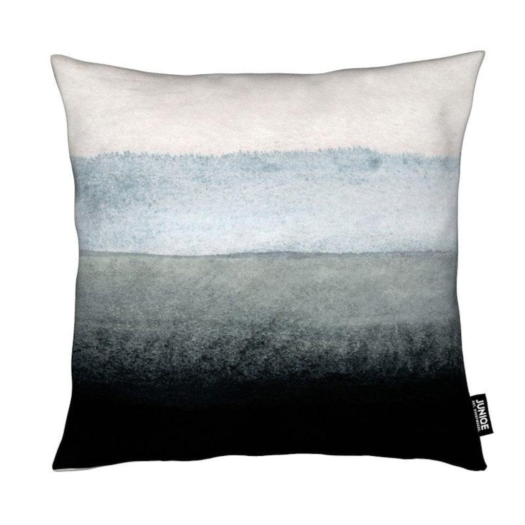 Juniqe Dekokissen »Shades of Grey«, Weiches, allergikerfreundliches Material