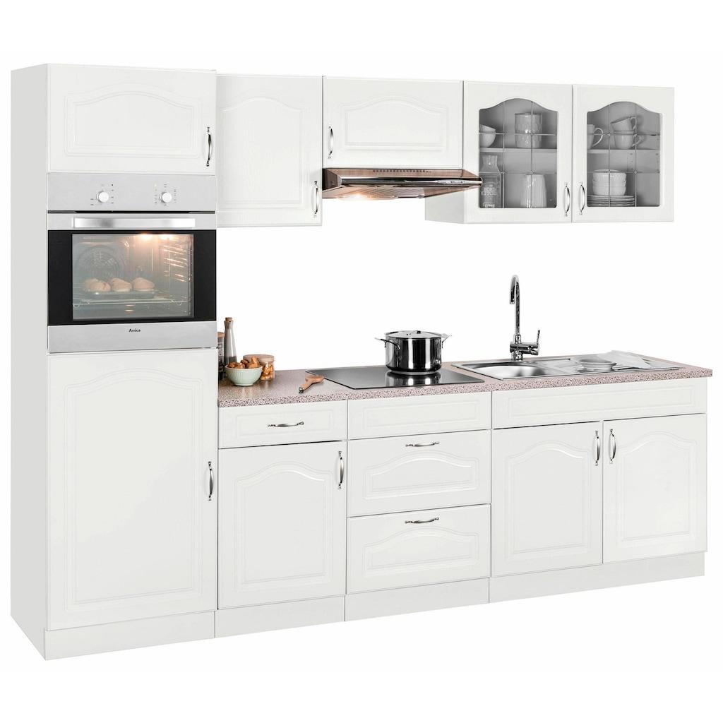 wiho Küchen Küchenzeile »Linz«, ohne E-Geräte, Breite 270 cm