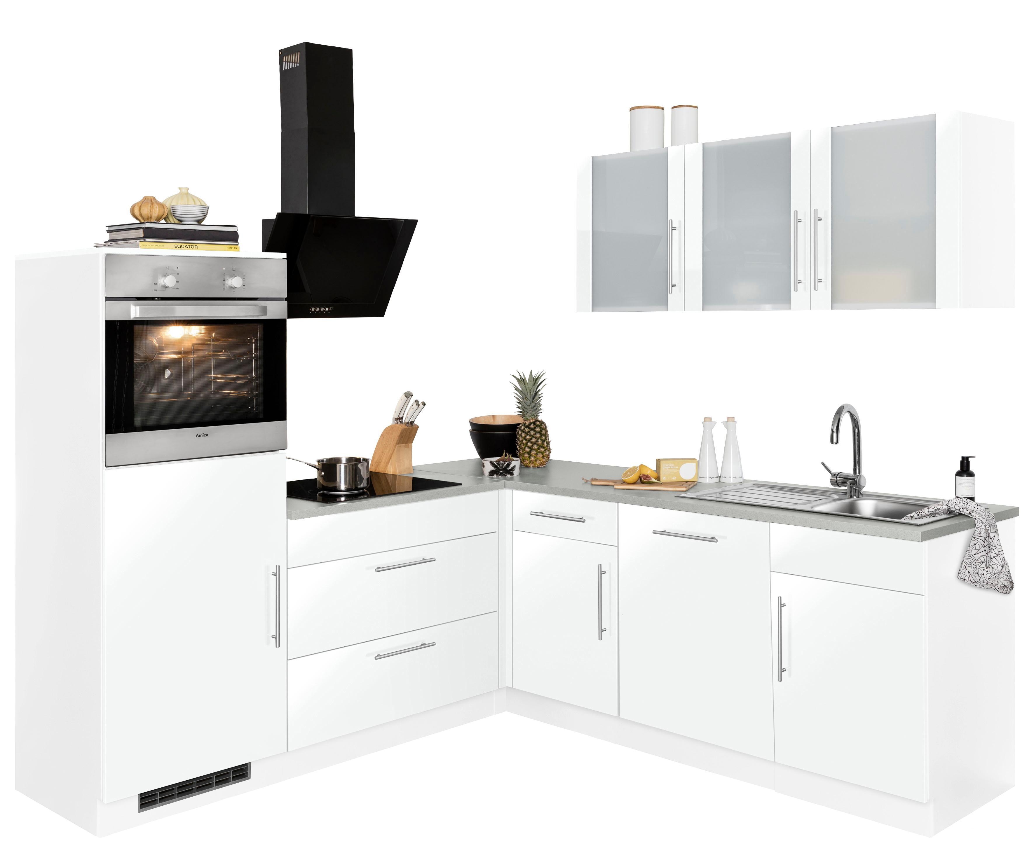 wiho Küchen Winkelküche Cali | Küche und Esszimmer > Küchen > Winkelküchen | Weiß | Wiho Küchen