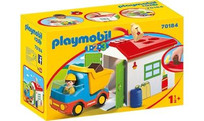 Playmobil® Konstruktions-Spielset »LKW mit Sortiergarage (70184), Playmobil 1-2-3«, Made in Europe kaufen