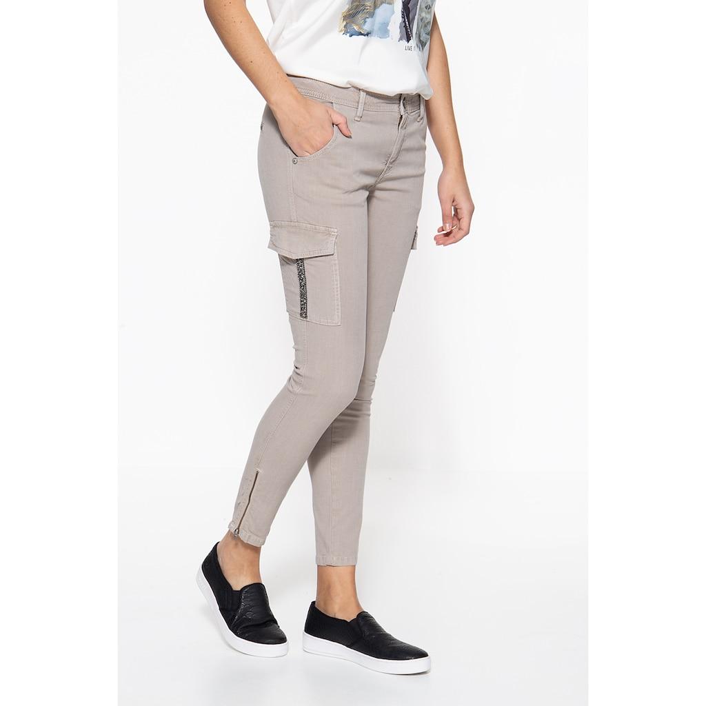 ATT Jeans Stretch-Hose »Carolin«, mit aufgesetzten Taschen am Oberschenkel