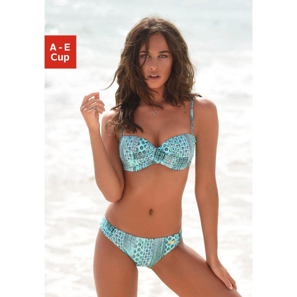 LASCANA Bügel-Bandeau-Bikini, in Patchwork-Optik