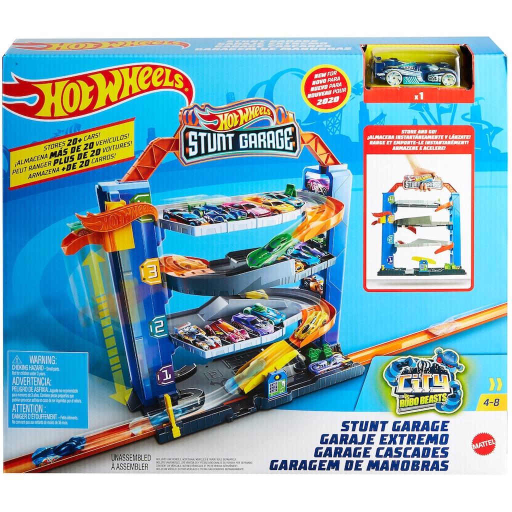 Hot Wheels Spiel-Parkgarage »Stunt-Garage Spielset, Parkhaus«, inklusive 1 Spielzeugauto