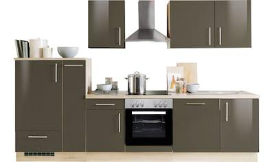 Menke Küchen Küchenzeile »Premium«, Küchenzeile mit E-Geräten, Breite 300 cm kaufen