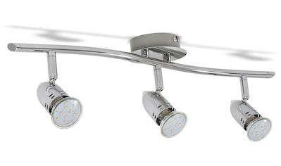 B.K.Licht LED Deckenleuchte, GU10, Warmweiß, LED Design Deckenlampe Spot-Strahler GU10 modern chrom inkl. 3W 250lm kaufen