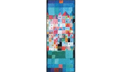 Läufer, »Colourful Houses«, wash+dry by Kleen - Tex, rechteckig, Höhe 7 mm, gedruckt kaufen