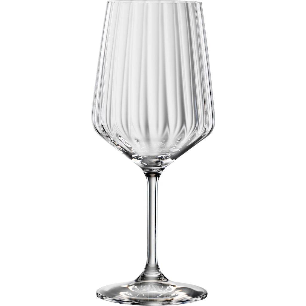 SPIEGELAU Dekanter »Lifestyle«, (Set, 3 tlg.), Kristallglas, (1x Dekanter, 2x Rotweinglas)