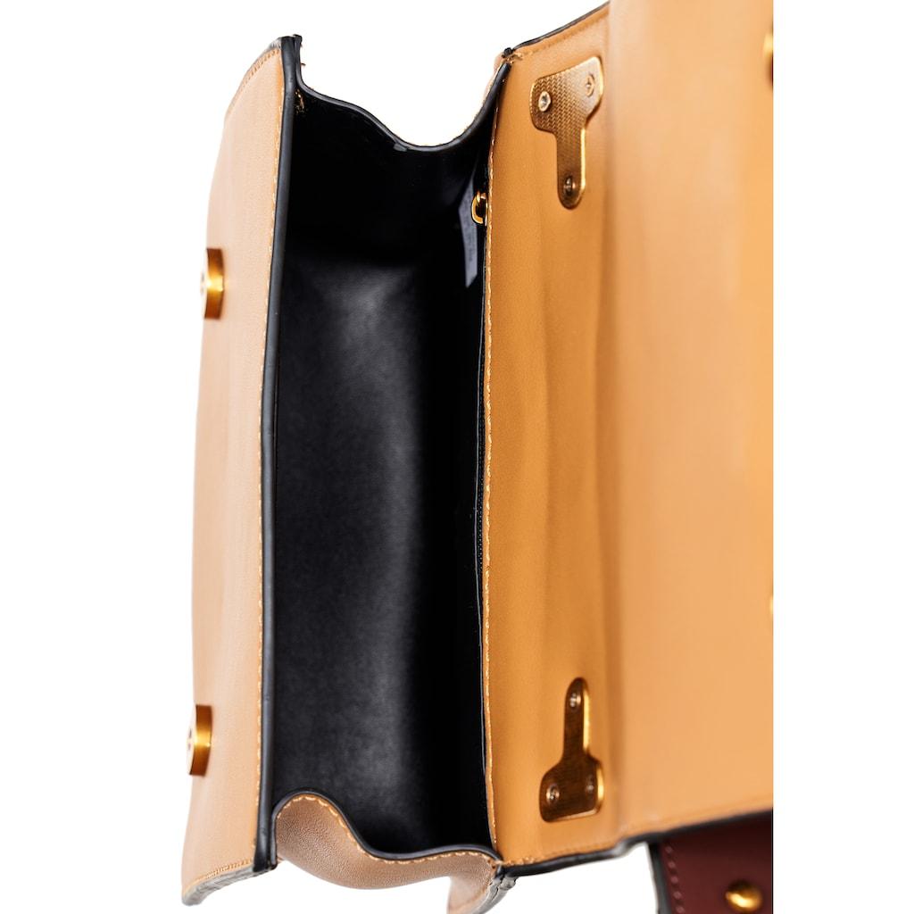 Emma & Kelly Schultertasche, mit stylischen Metall-Applikationen