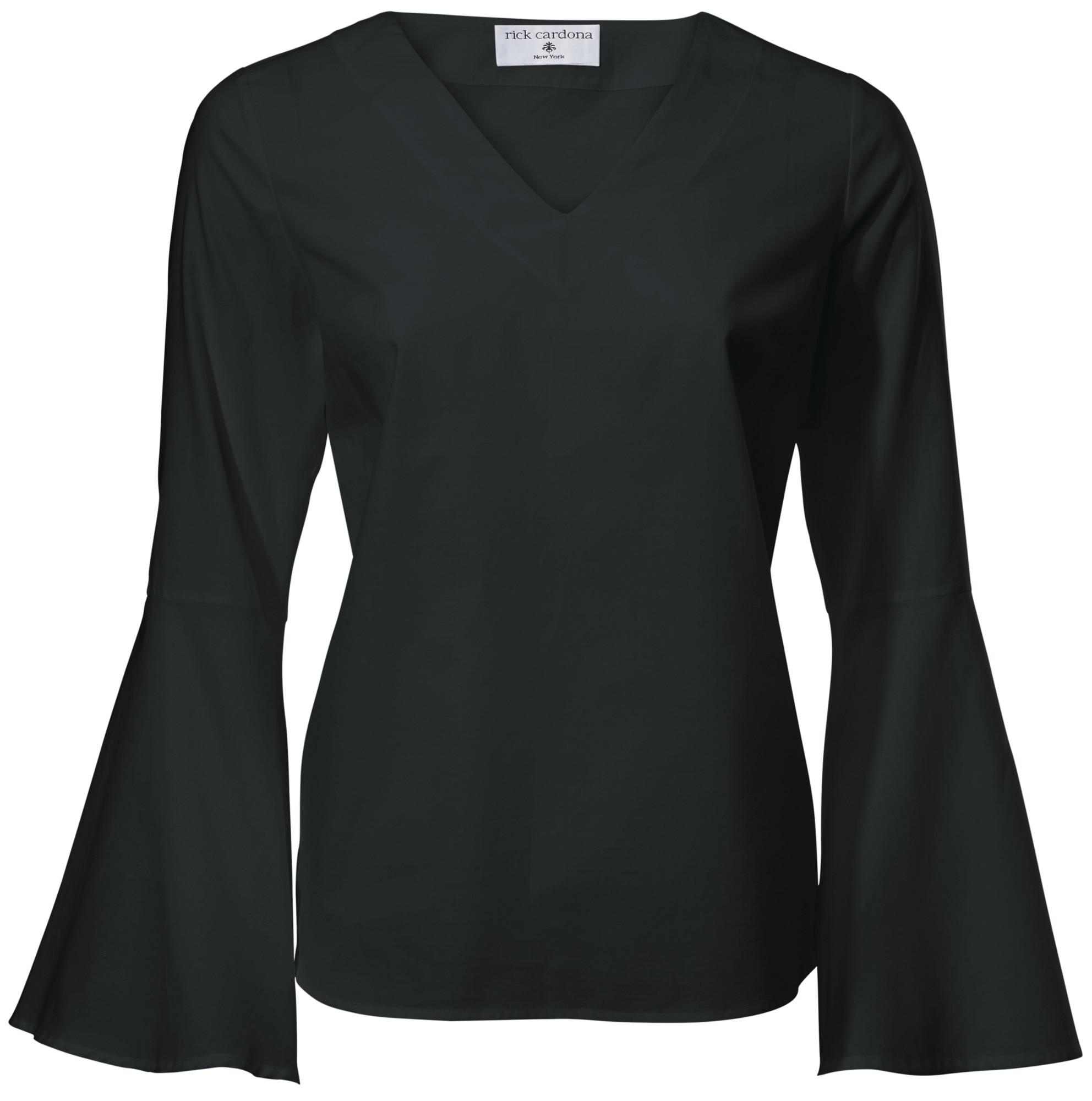 898fc4702e8531 Bildquelle  heine STYLE kragenlose Bluse Ärmel mit Volant