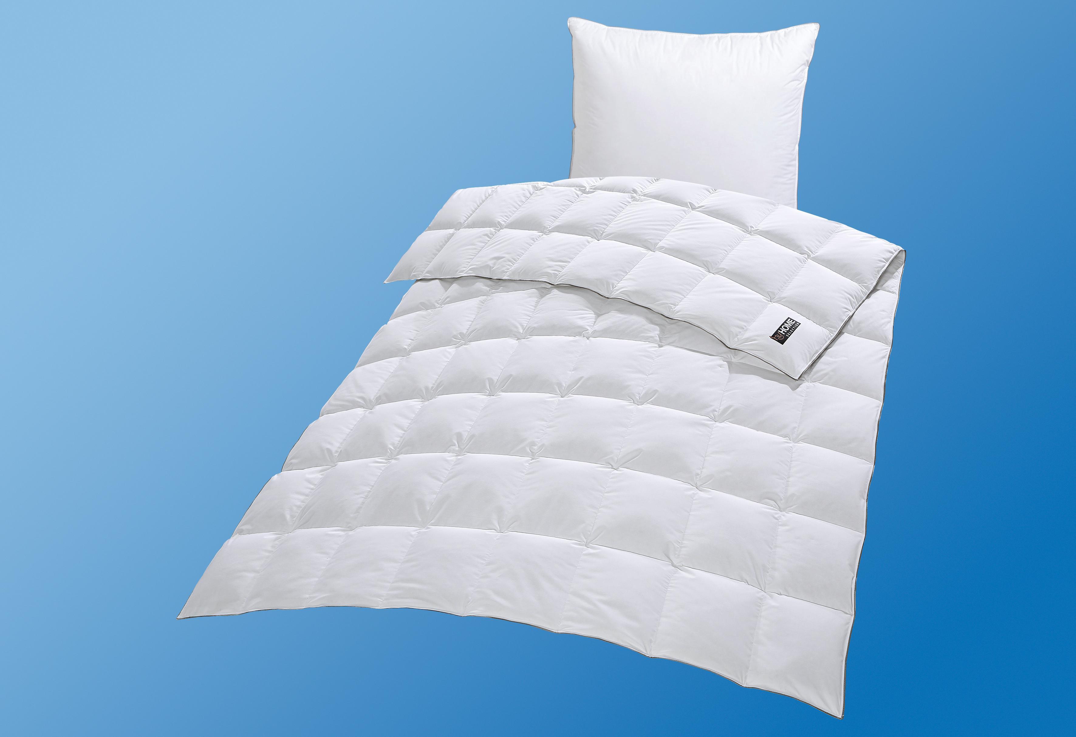 Daunenbettdecke Mailand my home Selection leicht Füllung: 90% Daunen 10% Federn Bezug: 100% Baumwolle
