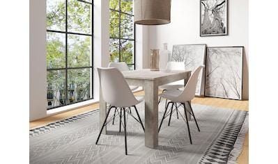 byLIVING Esszimmerstuhl »Usha«, Sitzschale mit Kissen, Metallgestell kaufen