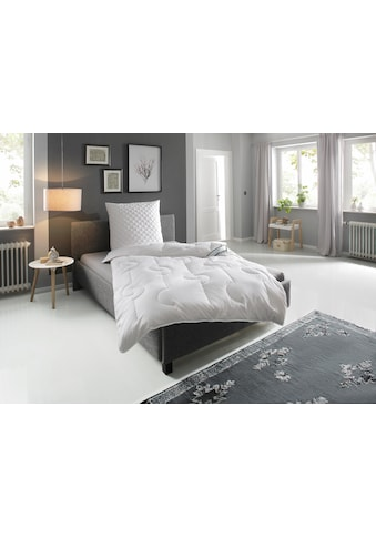 fan Schlafkomfort Exklusiv Naturfaserbettdecke »Baumwolle«, leicht, Füllung 100% Baumwolle, Bezug 100% Baumwolle, (1 St.), hergestellt aus 100% natürlichen Materialien - angenehm temperaturausgleichend kaufen