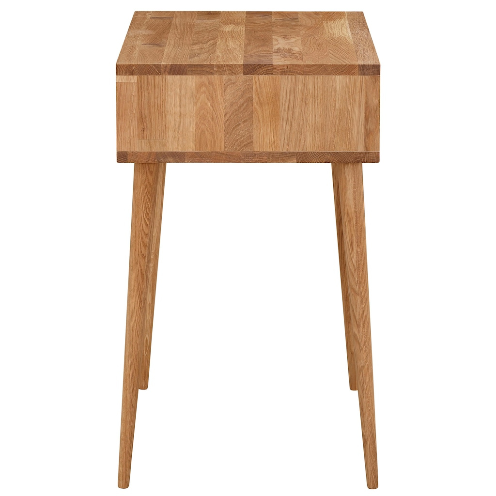 Premium collection by Home affaire Konsolentisch »Forest«, aus massiver Eiche, mit Schubkasten, Breite 80 cm, Laptoptisch Home Office