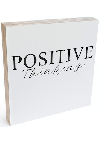Wall-Art Holzbild »Tischdeko Positive Thinking«, (1 St.) kaufen