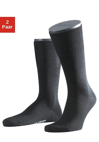 FALKE Socken »Airport«, (2 Paar), mit wärmender Schurwolle kaufen