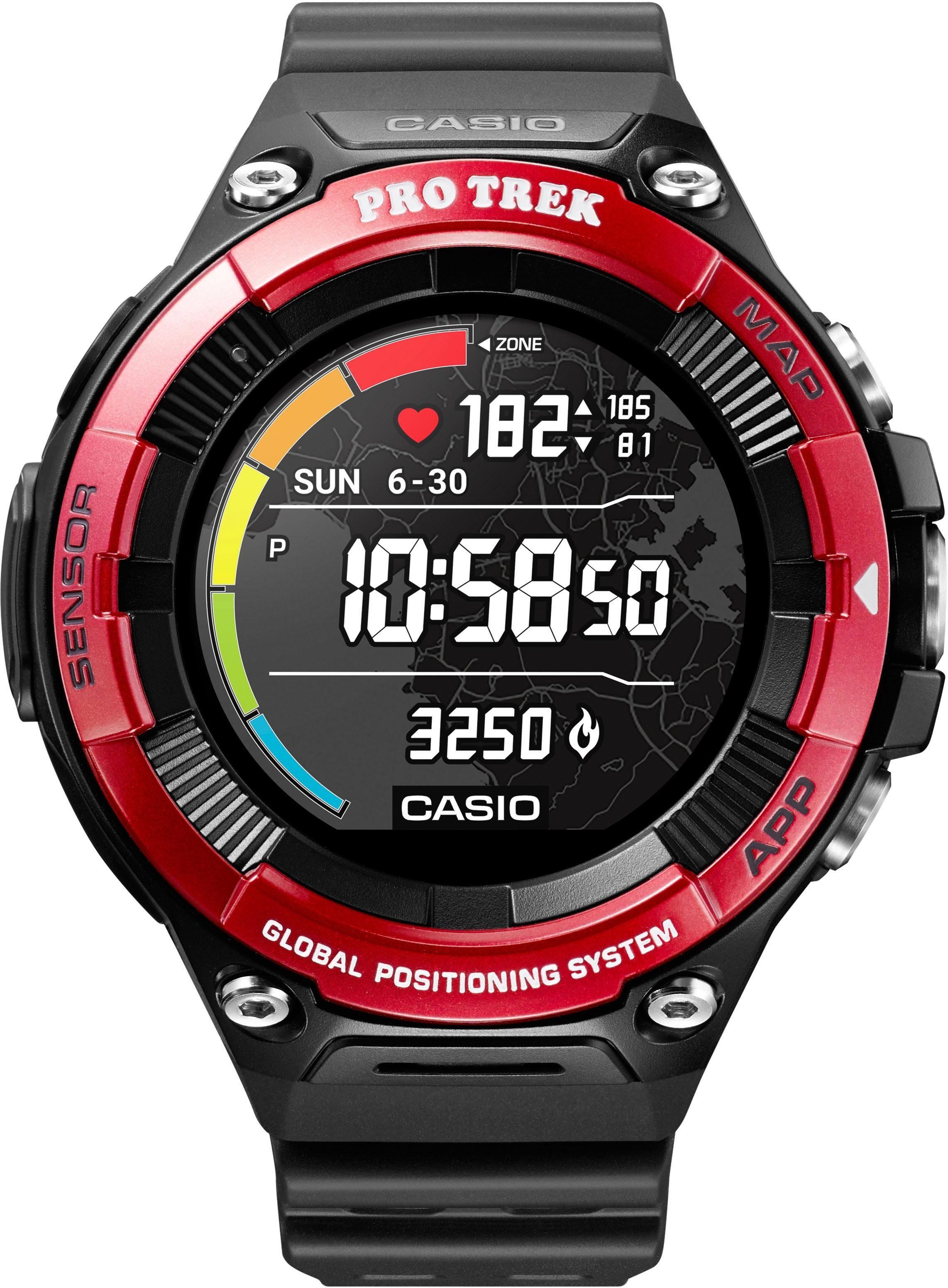 CASIO PRO TREK Smart PRO TREK Smart WSD-F21HR-RDBGE Smartwatch (Wear OS by Google) | Uhren > Smartwatches | Casio Pro Trek Smart
