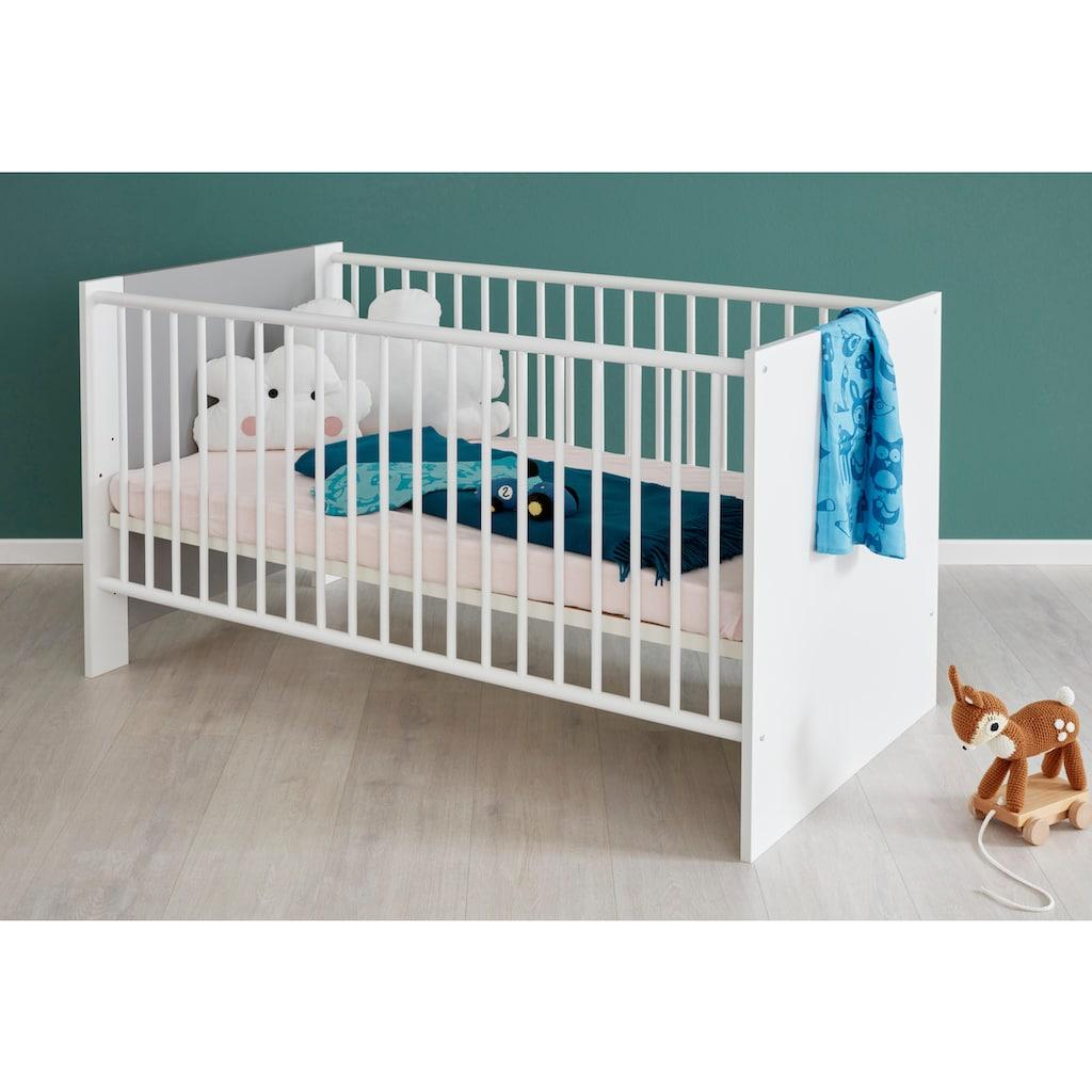 Babyzimmer-Komplettset »Lissabon«, (Set, 3 St.), Bett + Wickelkommode + 2 trg. Schrank