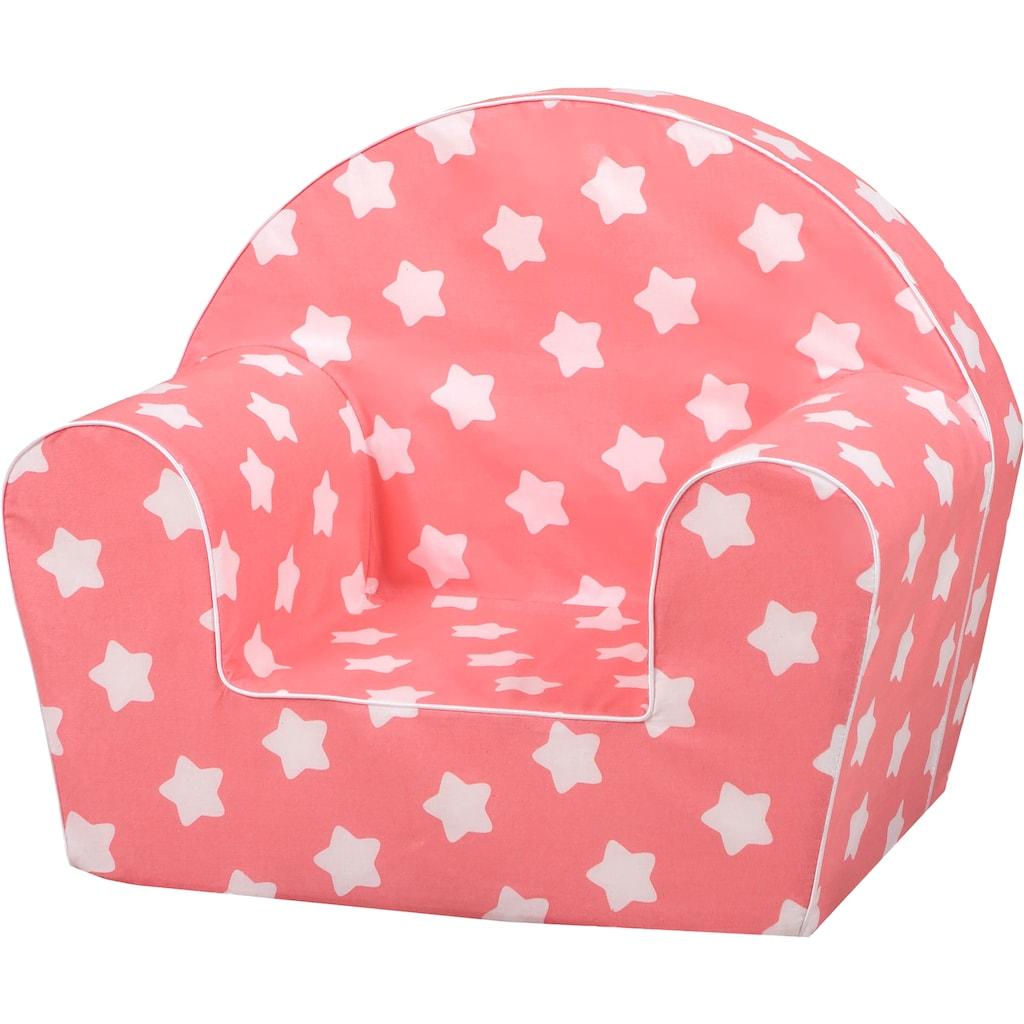 Knorrtoys® Sessel »Pink, white stars«, für Kinder; Made in Europe