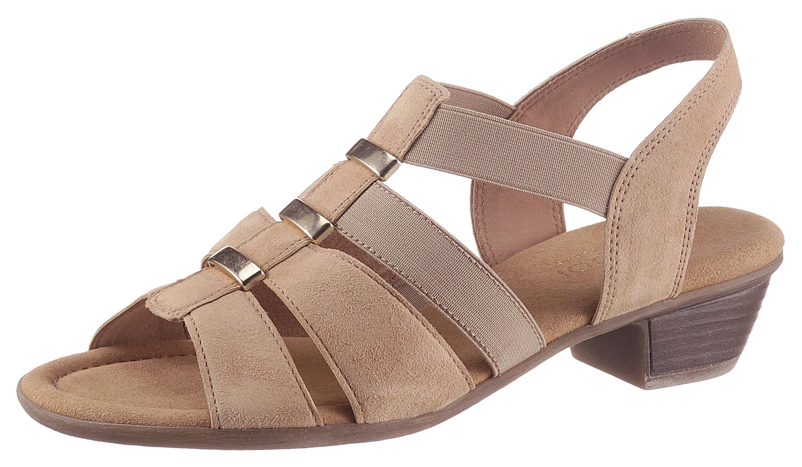 gabor -  Sandalette, mit Stretcheinsätzen
