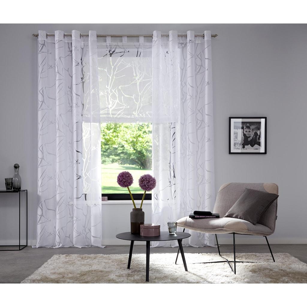 Raffrollo »Anna«, my home, mit Schlaufen