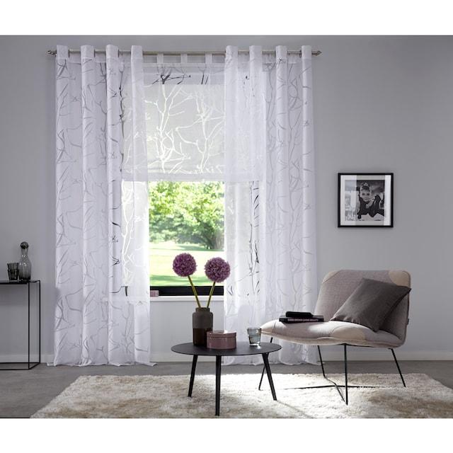 Gardine, »Anna«, my home, Ösen 1 Stück