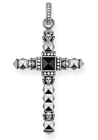 THOMAS SABO Kreuzanhänger »Ethno Kreuz Schwarz Klein, PE774-698-11«, mit Onyx kaufen