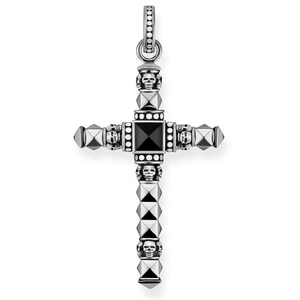 THOMAS SABO Kreuzanhänger »Ethno Kreuz Schwarz Klein, PE774-698-11«, mit Onyx