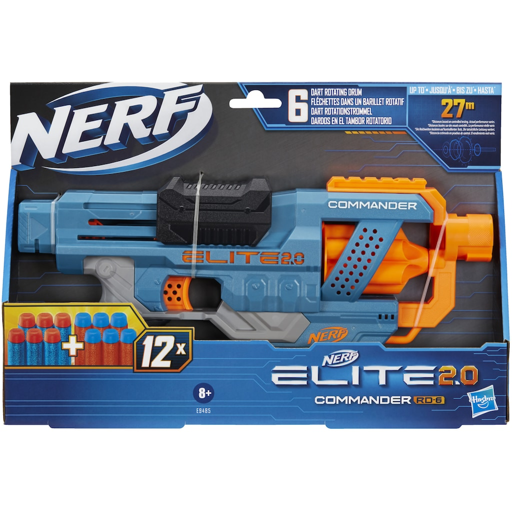 Hasbro Blaster »Nerf Elite 2.0 Commander RD-6«, inkl. 12 Darts