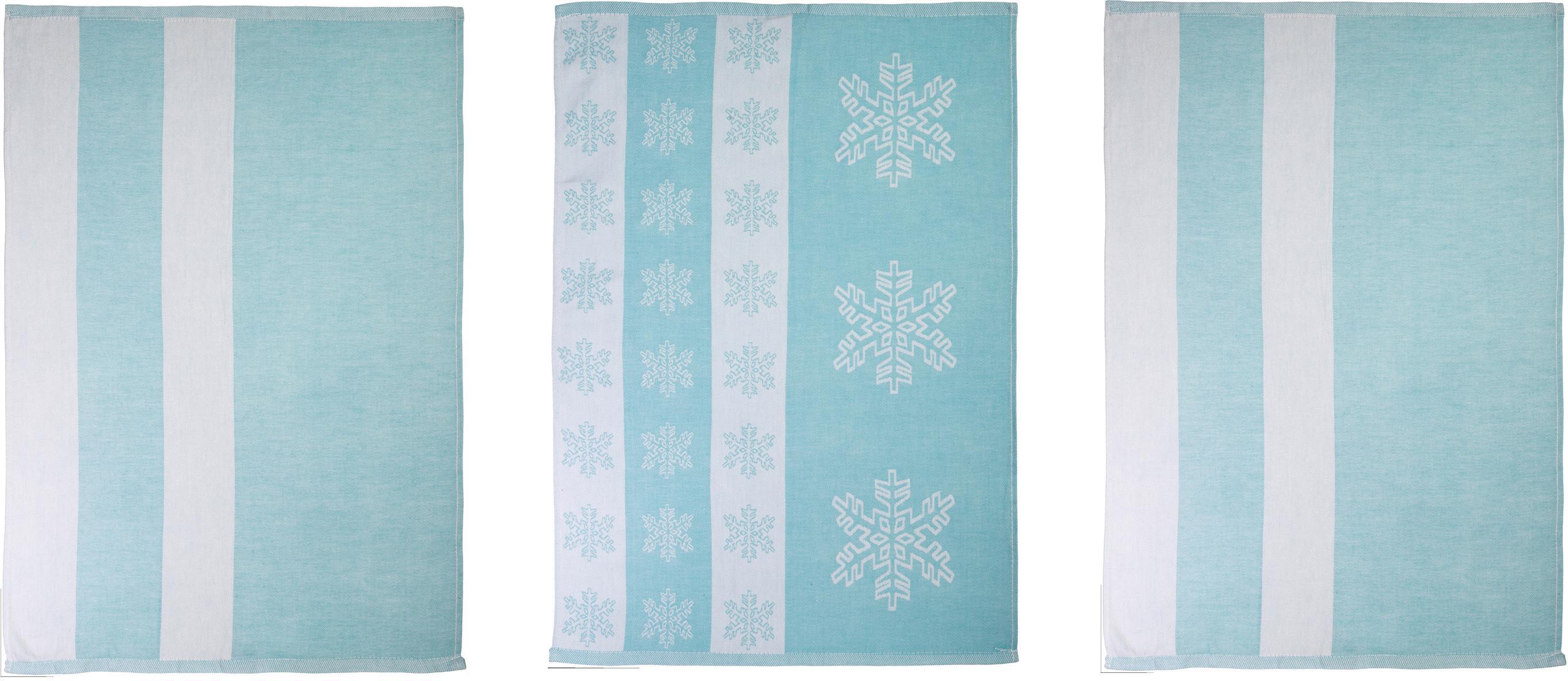 stuco Geschirrtuch Eiskristall, (Set, 9 tlg.), in zwei Varianten blau Geschirrtücher Küchenhelfer Haushaltswaren