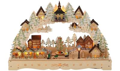"""Schwibbogen """"LED Weihnachtsleuchter mit drehendem Baum und Musik"""" kaufen"""