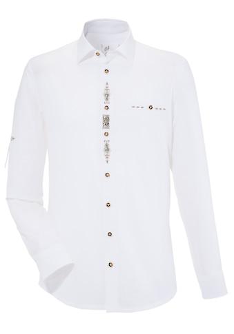 OS - Trachten Trachtenhemd in Leinenoptik kaufen
