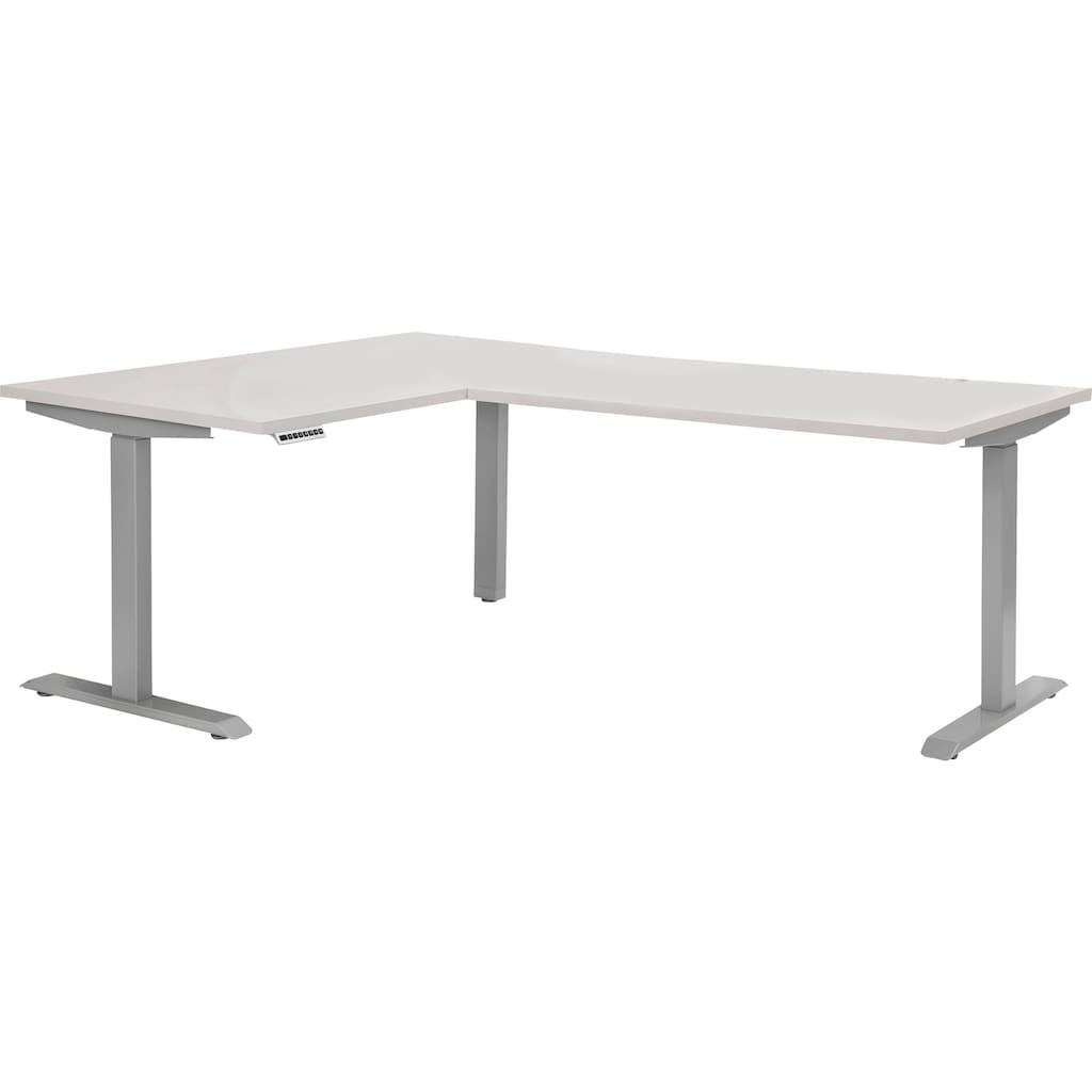 Maja Möbel Schreibtisch »eDJUST Schreibtisch 5514«, 90° Winkelkombination, elektrisch höhenverstellbar, 2-Motoren-Gestell, Memoryfunktion