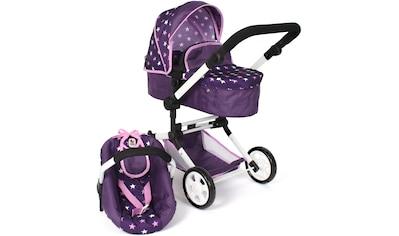 CHIC2000 Kombi-Puppenwagen »Linus, Stars lila«, mit Babywanne und Autositz kaufen