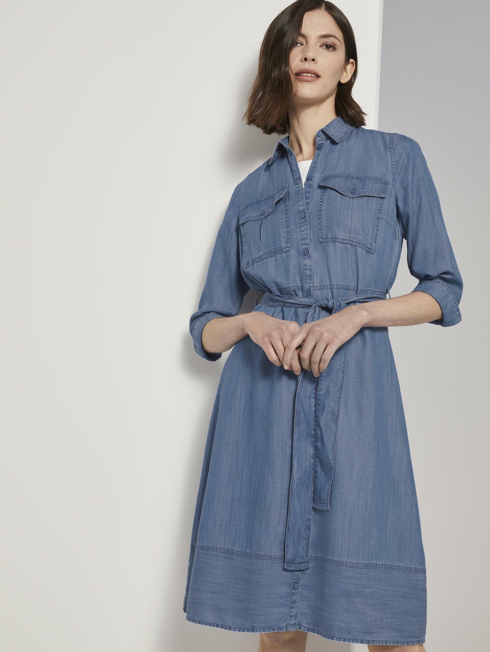 tom tailor -  Jeanskleid Denim Kleid im Shirt-Style