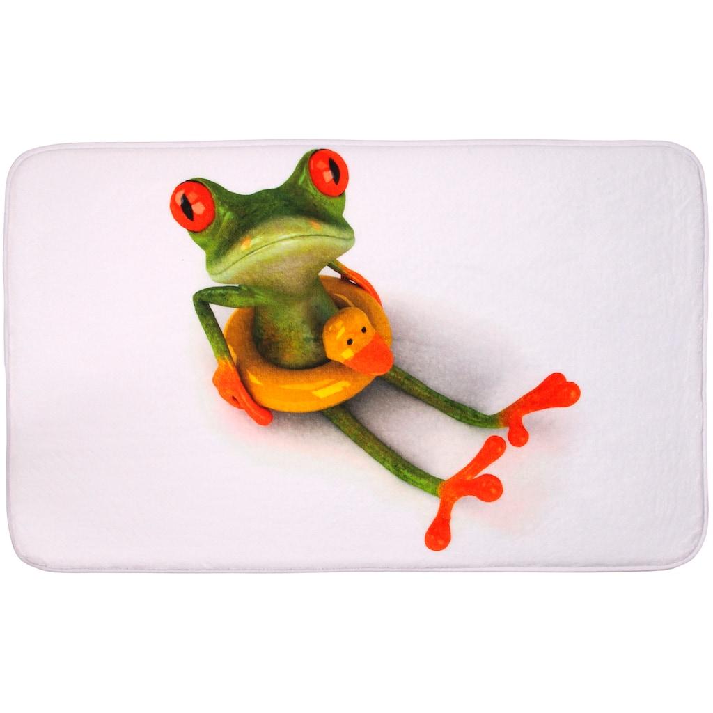 Sanilo Badematte »Froggy«, Höhe 15 mm, schnell trocknend, Memory Schaum