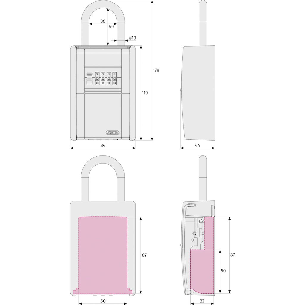 ABUS Schlüsseltresor »KeyGarage«