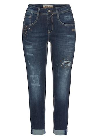 GANG Relax-fit-Jeans »AMELIE CROPPED«, mit doppelter rechter Gesäßtasche und Glitzer... kaufen