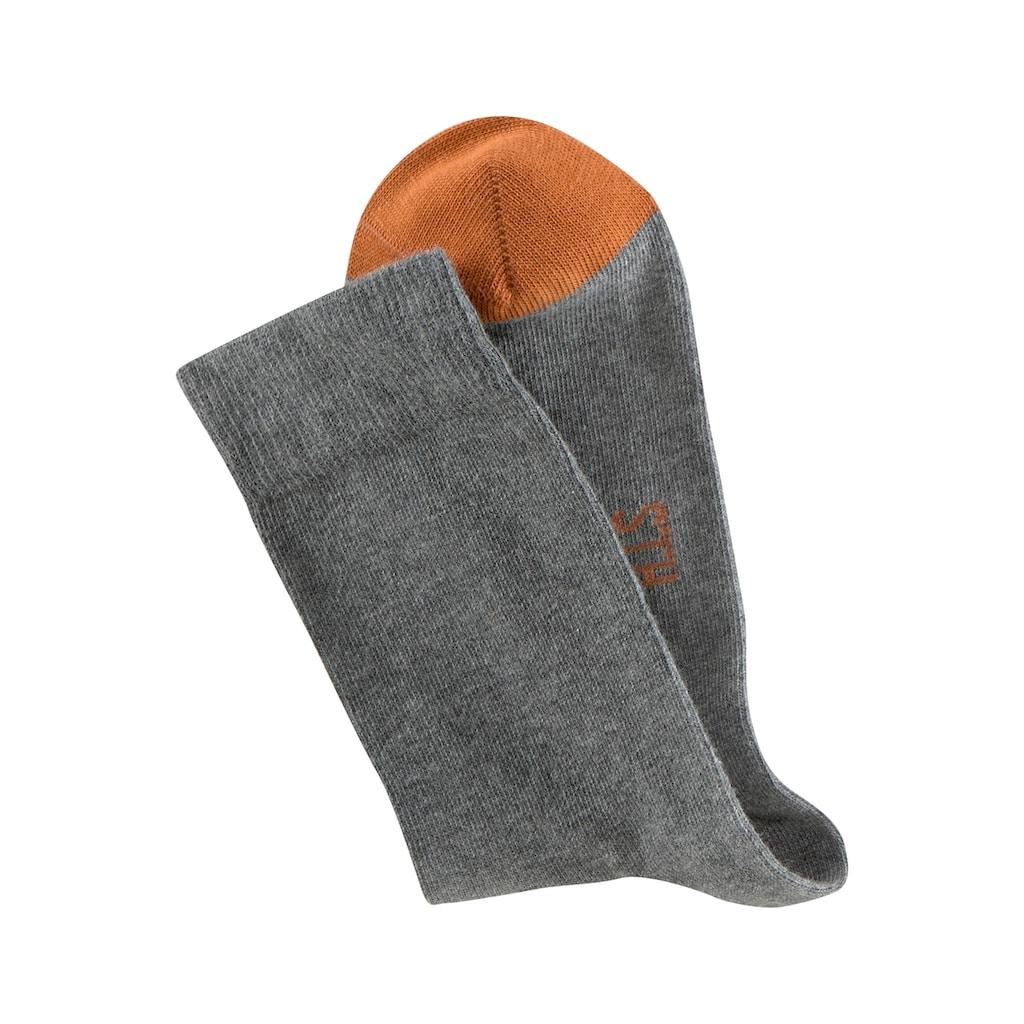 H.I.S Socken, (8 Paar), mit kontrastfarbener Spitze