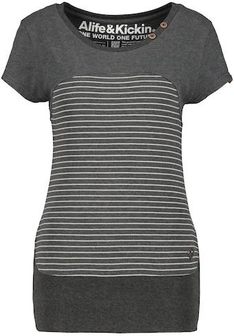 Alife & Kickin T-Shirt »CosmaAK«, im Kontrast-Look mit Streifen kaufen