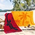 Delindo Lifestyle Strandtuch »Tropical Sonne«, (1 St.), mit jacquard-gewebtem Motiv