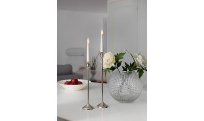 KONSTSMIDE LED Dekolicht, Warmweiß, Kerzen 2er-Set, weiß, flackernde Dioden kaufen