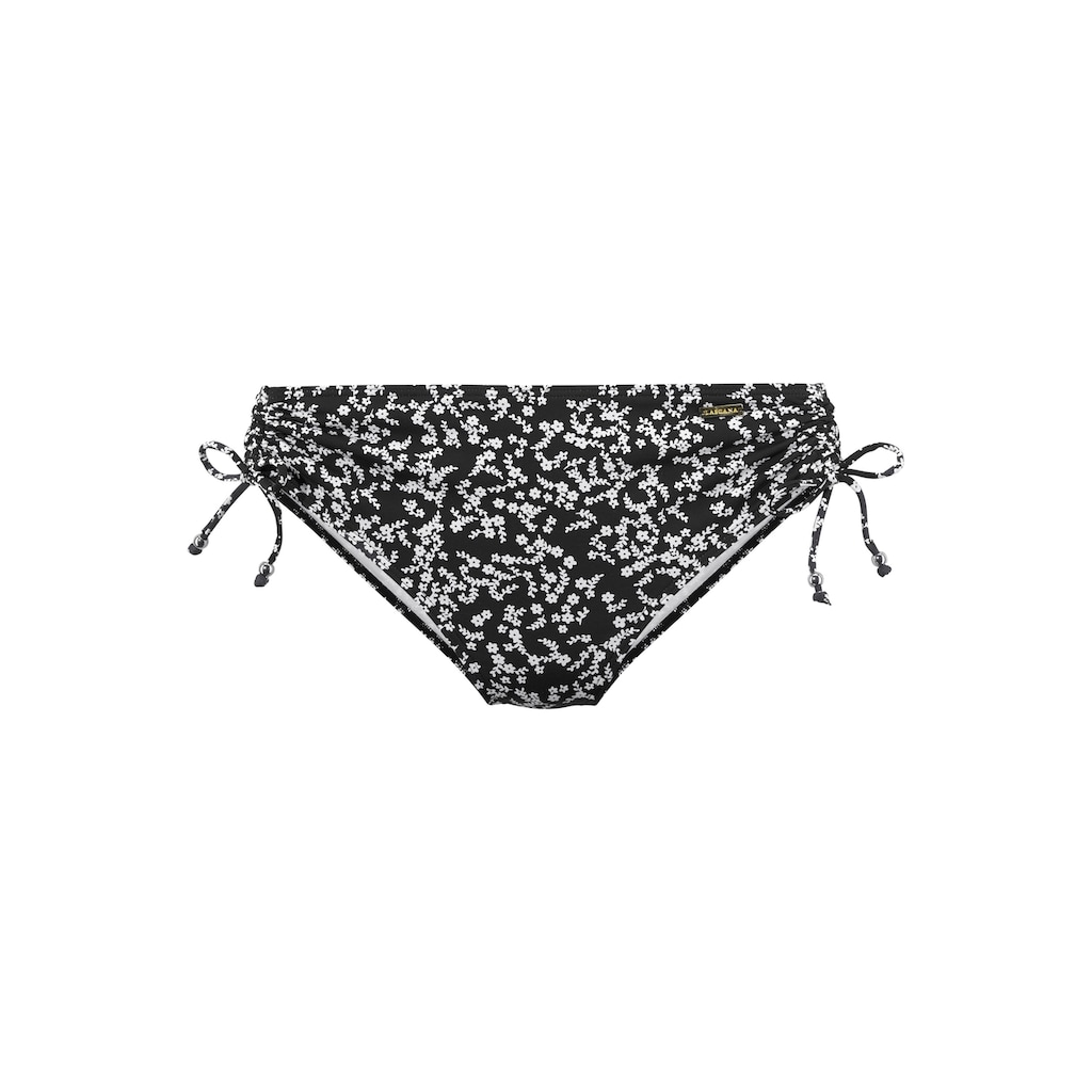 LASCANA Bikini-Hose »Meadow«, Seitlich zum raffen