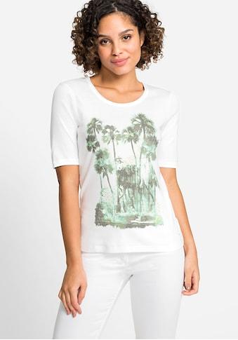 Olsen Rundhalsshirt, mit Palmenprint vorne kaufen