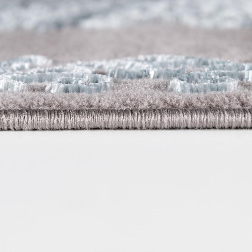 Sehrazat Teppich »Lara 704«, rechteckig, 10 mm Höhe, Hoch Tief Struktur, Wohnzimmer